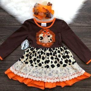 Other - Toddler Girl Boutique Turkey Dress Set